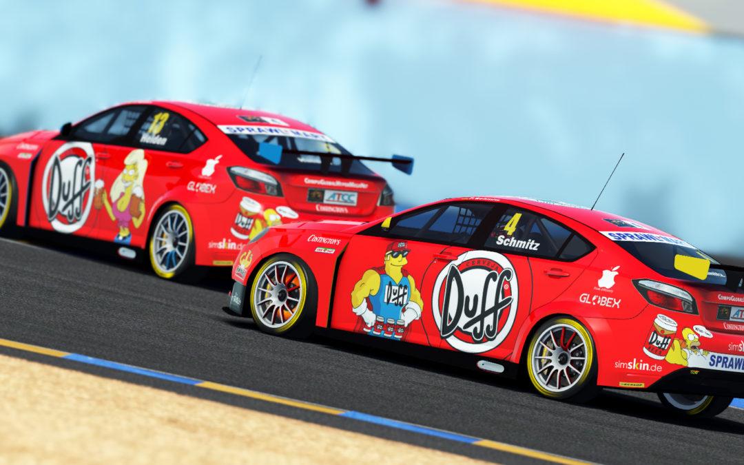 Team Duff AHaB Racing mit MG in der ATCC am Start